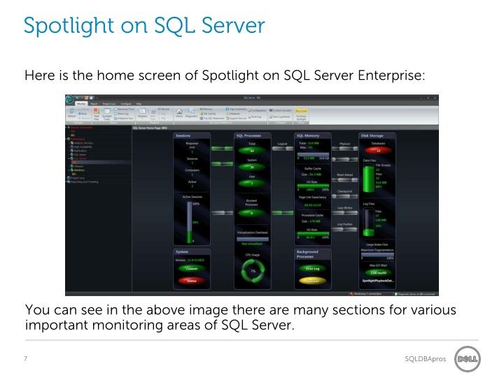 Spotlight on SQL Server