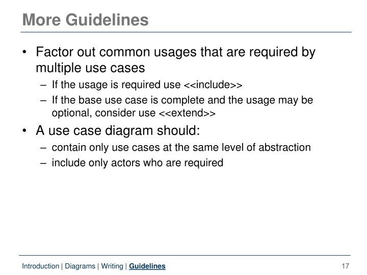 More Guidelines