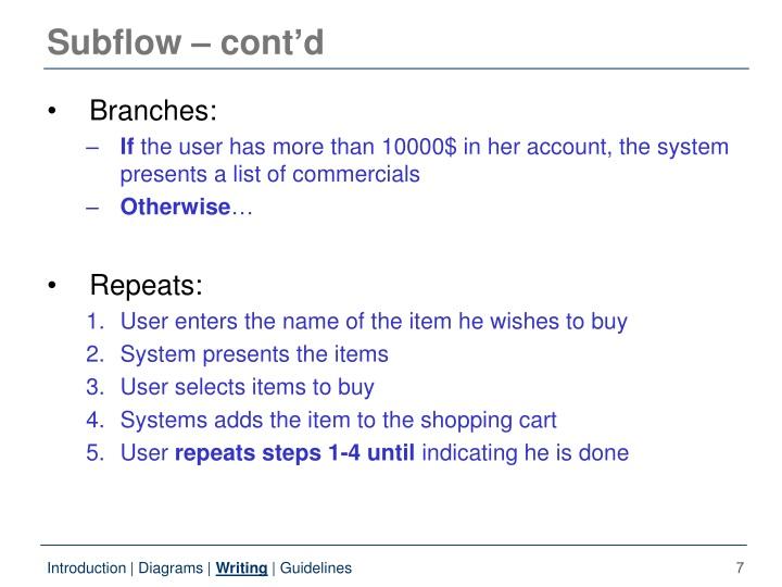 Subflow