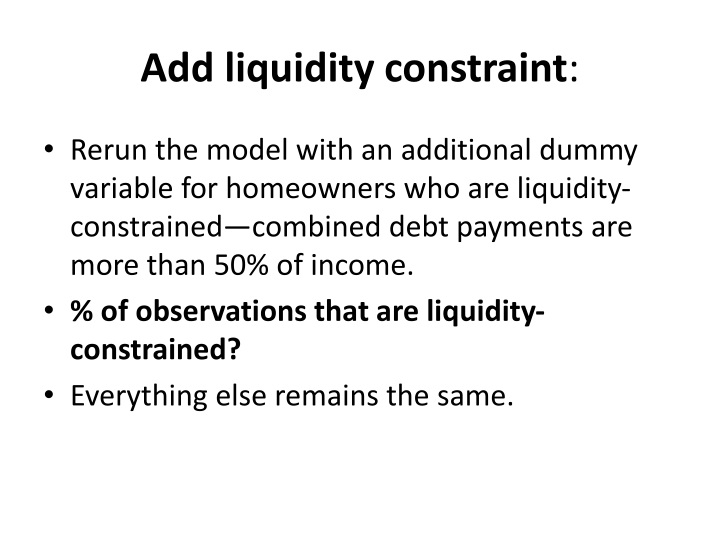Add liquidity constraint