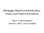 mortgage default and bankruptcy theory and empirical evidence