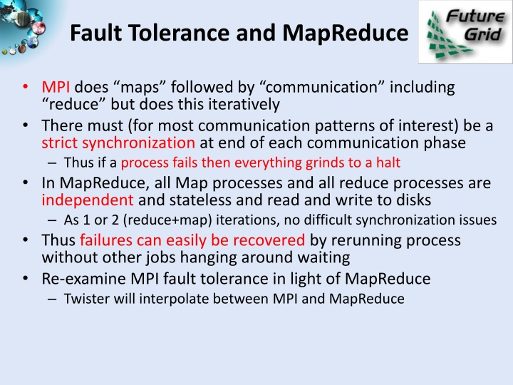Fault Tolerance and MapReduce