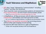 fault tolerance and mapreduce