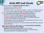 grids mpi and clouds
