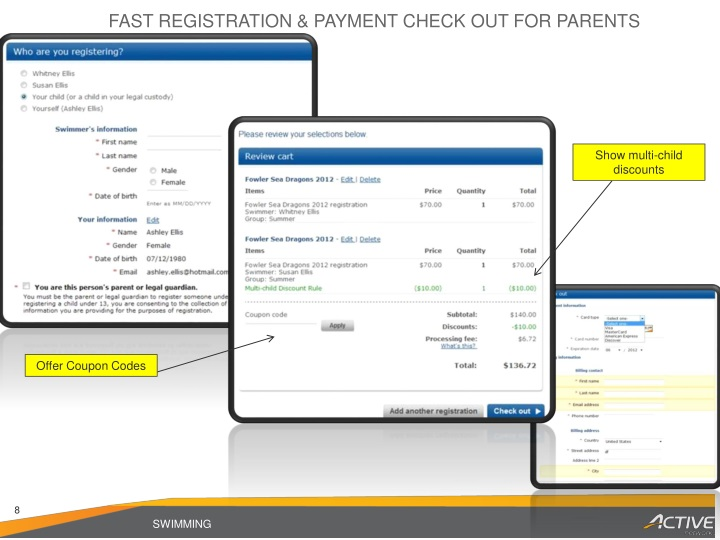 FAST REGISTRATION & PAYMENT CHECK OUT FOR PARENTS