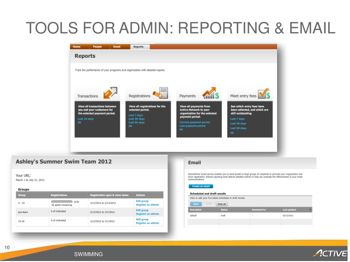 TOOLS for ADMIN: REPORTING & EMAIL