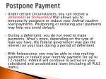 postpone payment