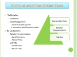 costs of accepting credit card