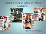 topic portrayal of women in men s magazines