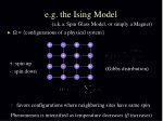 e g the ising model