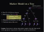 markov model on a tree
