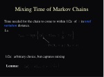 time needed for the chain to come to within 1 2e of in total variation distance