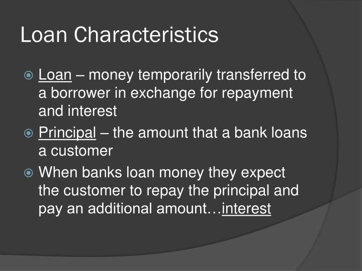 Loan Characteristics