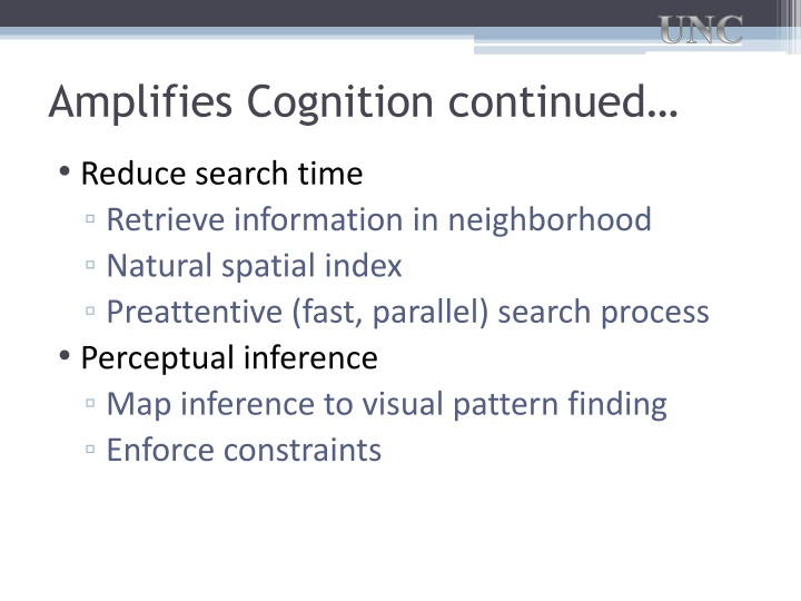 Amplifies Cognition continued…