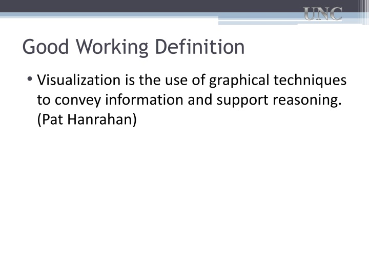 Good Working Definition