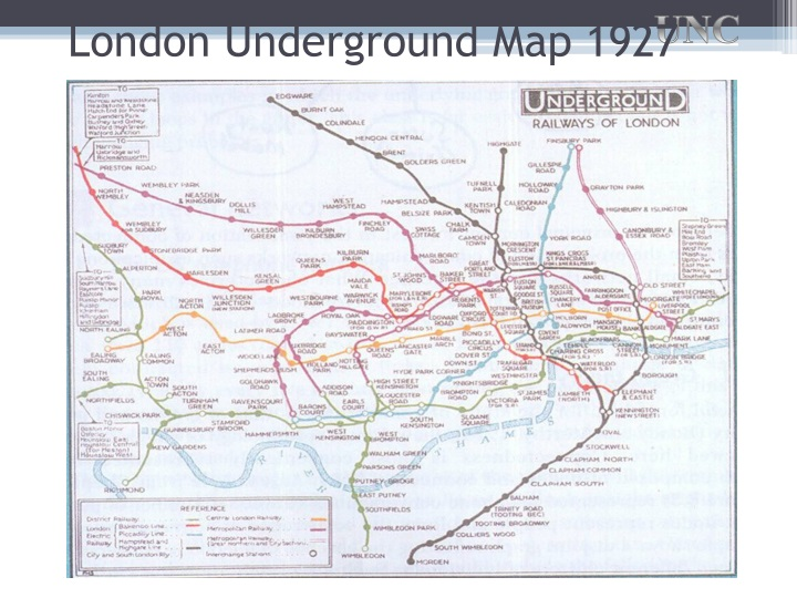 London Underground Map 1927
