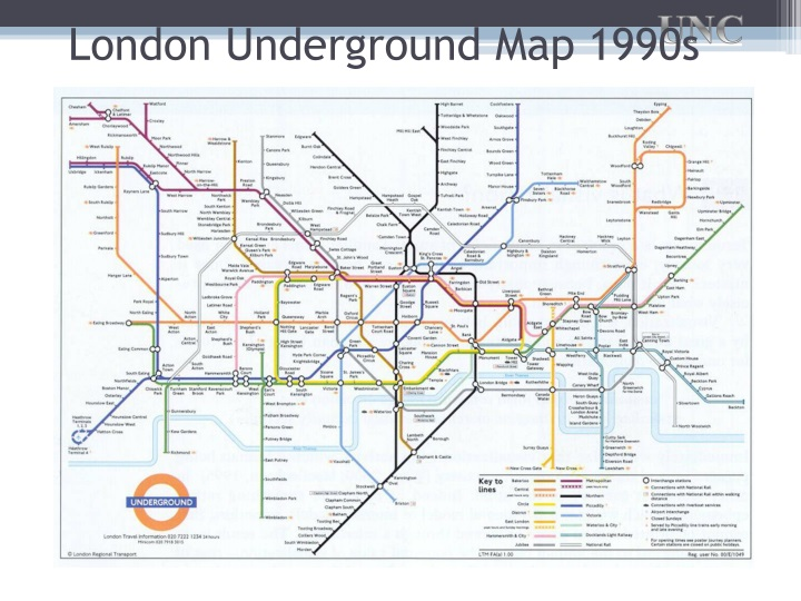 London Underground Map 1990s
