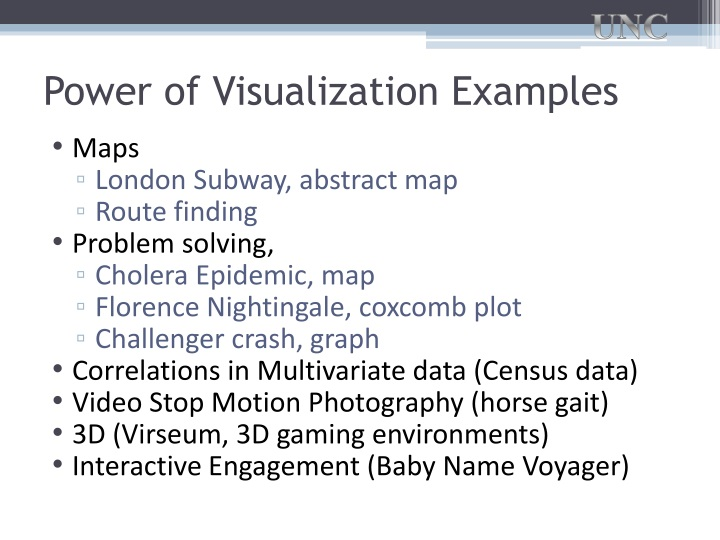 Power of Visualization Examples