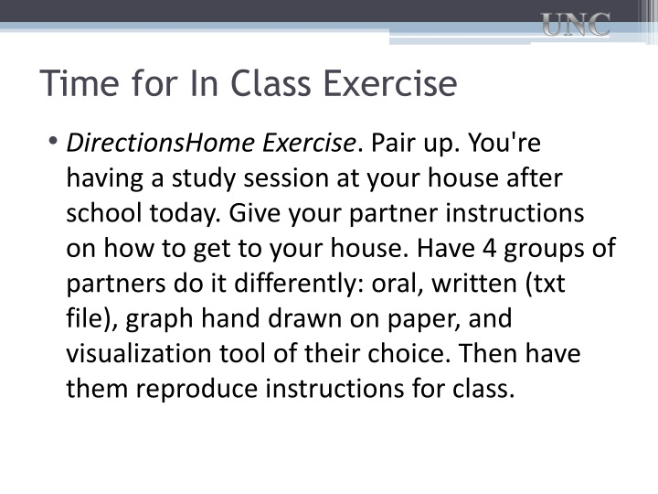Time for In Class Exercise
