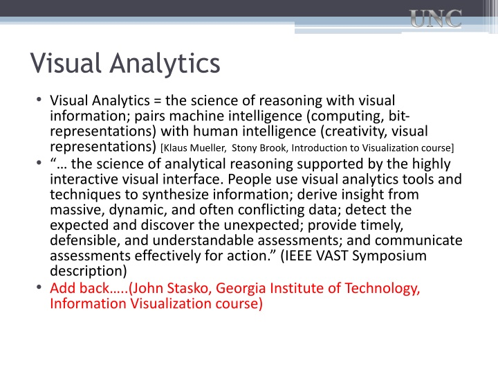 Visual Analytics
