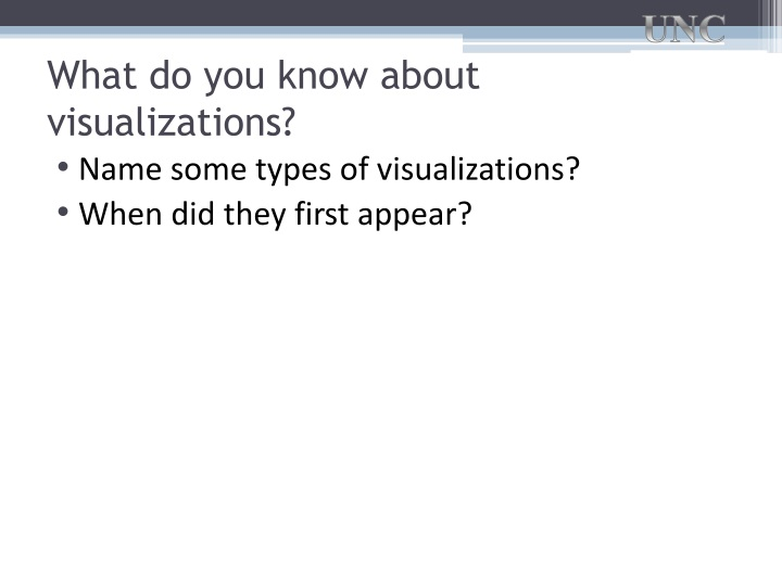What do you know about visualizations?