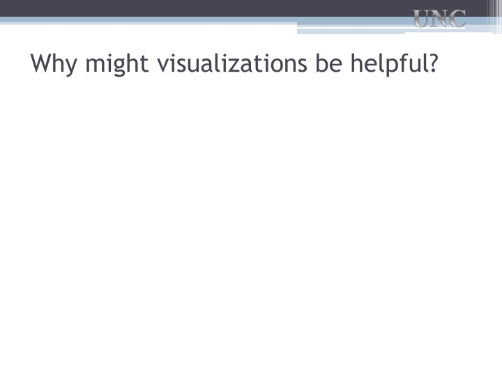 Why might visualizations be helpful?