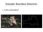 example boundary detection