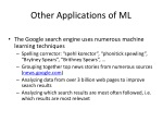 other applications of ml