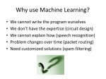 why use machine learning