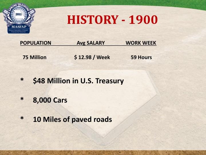 HISTORY - 1900