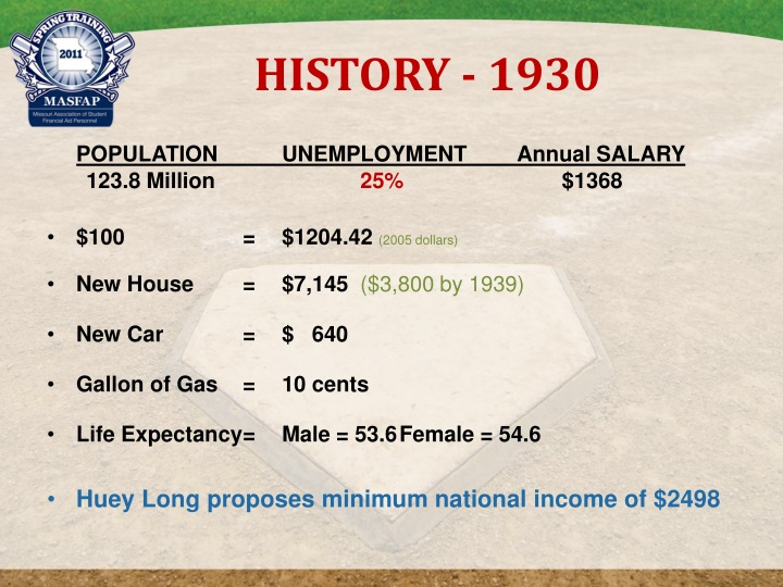 HISTORY - 1930