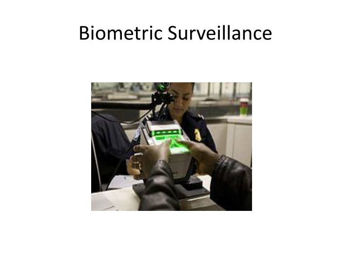 Biometric Surveillance