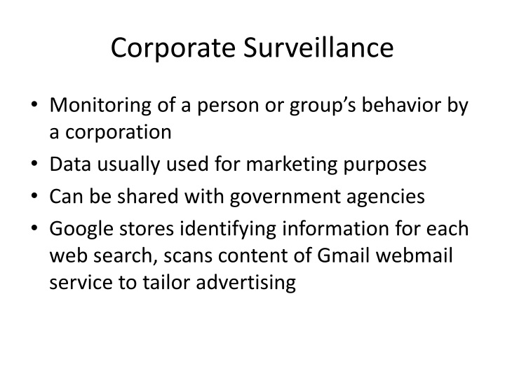 Corporate Surveillance