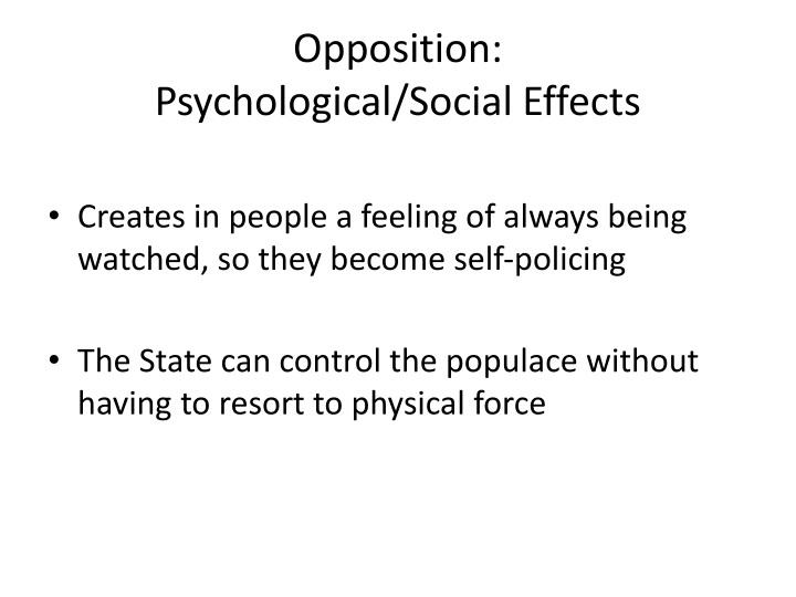 Opposition: