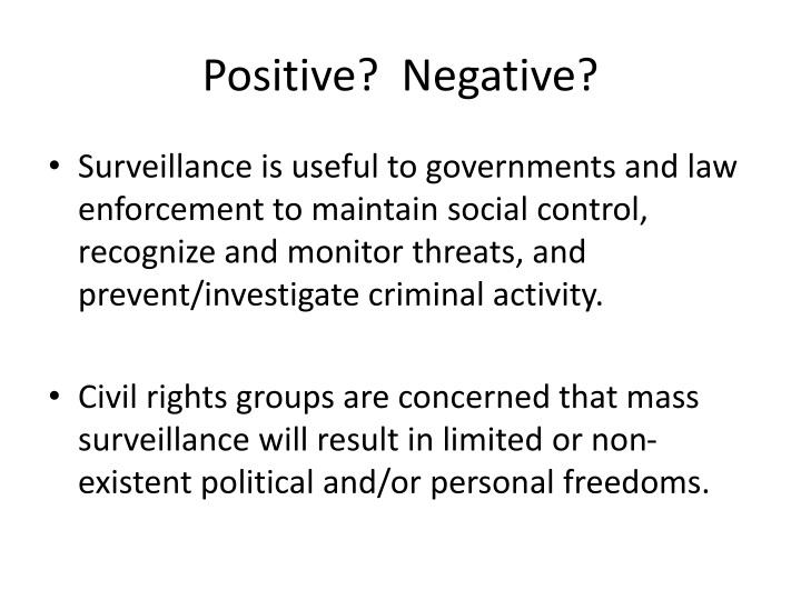 Positive?  Negative?