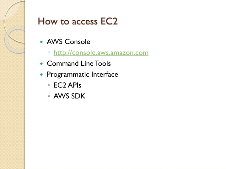 How to access EC2
