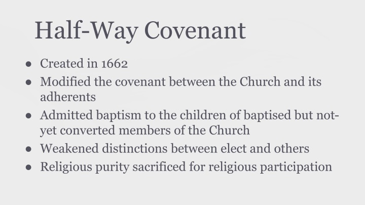 the half way covenant Find out about covenant today  since the update, i've had nothing but problems no streams available, or the the stream just shuts off half way through.