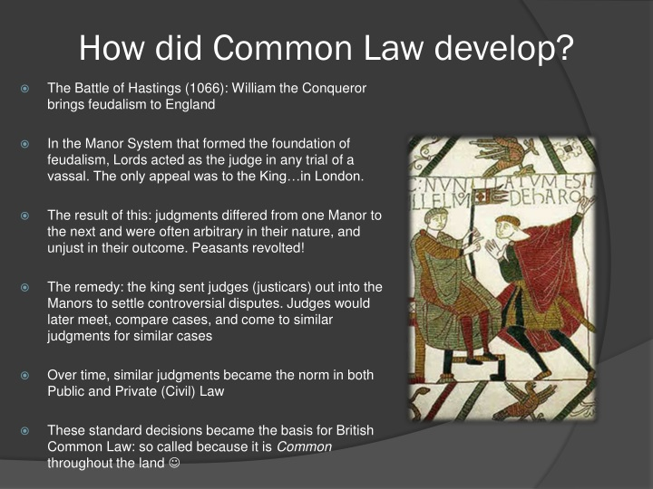 How did common law develop