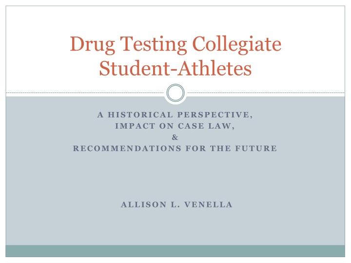 the importance of drug testing in collegiate athletics