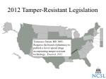 2012 tamper resistant legislation