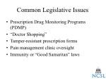 common legislative issues