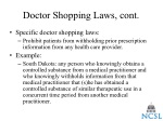 doctor shopping laws cont