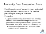immunity from prosecution laws