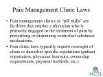 pain management clinic laws