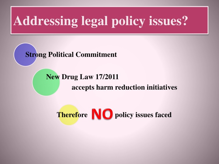 Addressing legal policy issues?