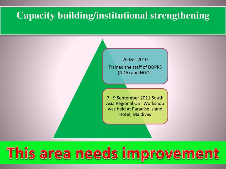 Capacity building/institutional strengthening