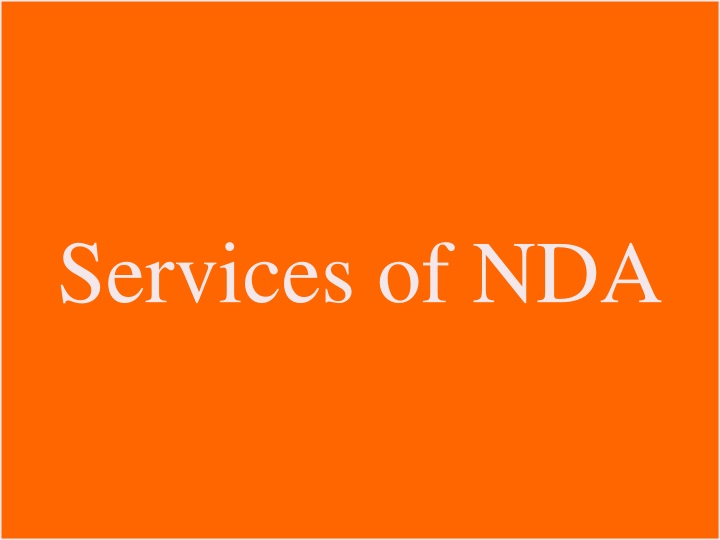 Services of NDA