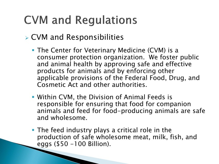 Cvm and regulations