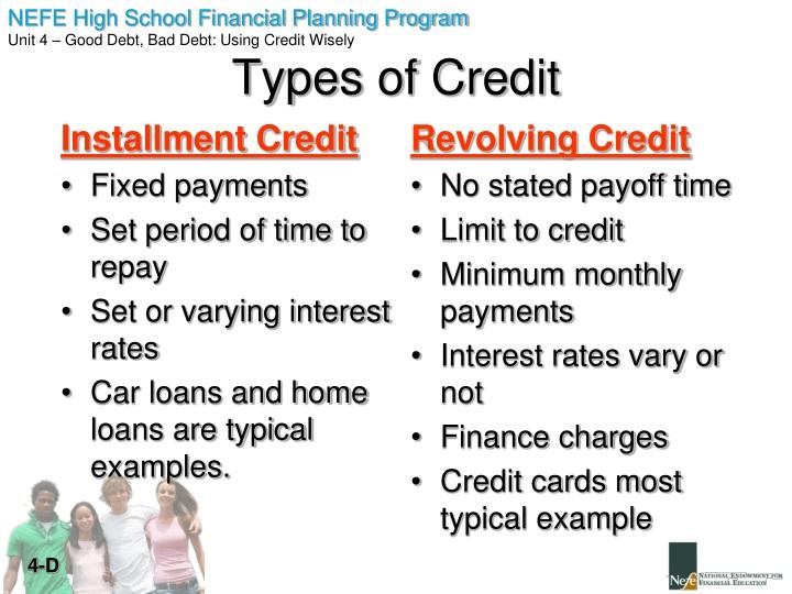 Installment Credit
