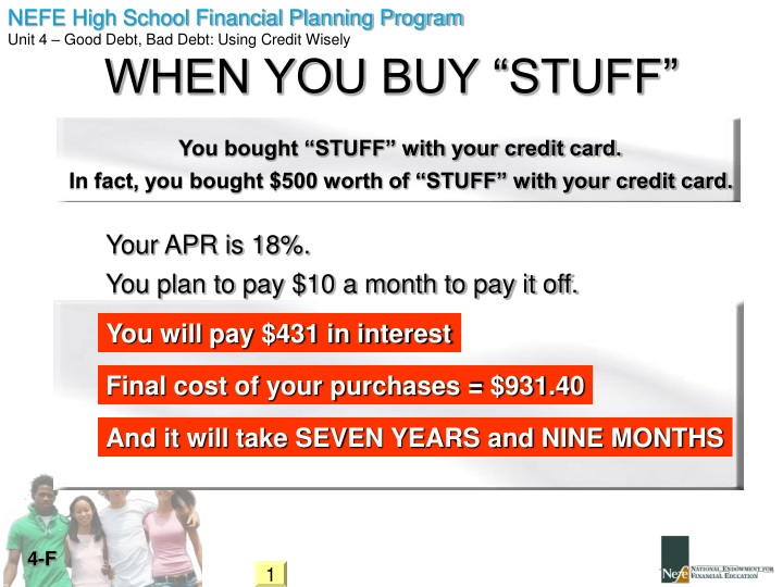 "WHEN YOU BUY ""STUFF"""